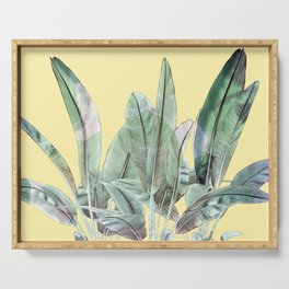 Bananas Leaves in Yellow Serving Tray