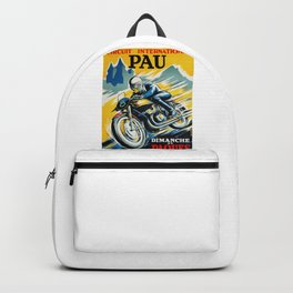 Grand Prix de Pau, Race poster, vintage motorcycle poster, retro poster, Backpack