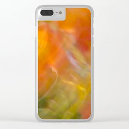 Sweeping Orange Strokes Clear iPhone Case