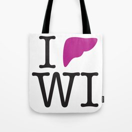 I Liver Wisconsin Tote Bag