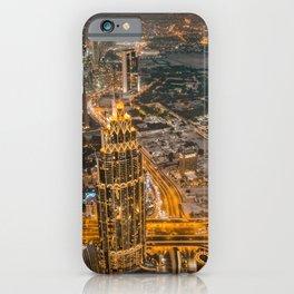 Burj Khalifa in Dubaï by Night iPhone Case
