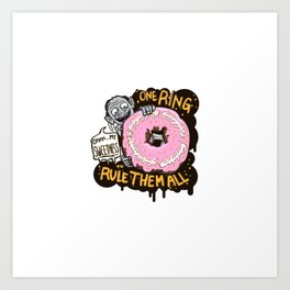 Lord of the Donut Rings Art Print