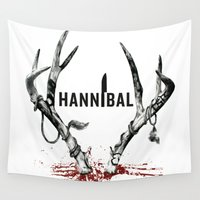 hannibal Wall Tapestries featuring Hannibal  by lazergo