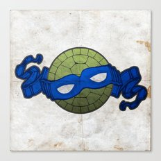the blue turtle Canvas Print