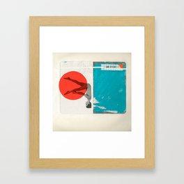 Red Dot Framed Art Print