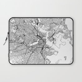 Boston White Map Laptop Sleeve