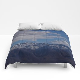 Desert Snow on Christmas! Comforters