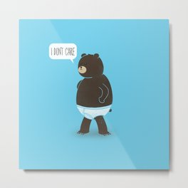 A Bear In Underwear That Just Don't Care Metal Print