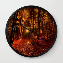 Electric Forest Disco Wall Clock
