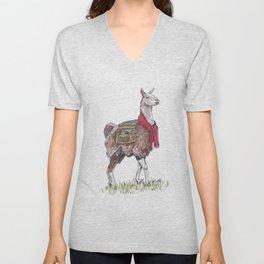 Llama the Yarnbringer Unisex V-Neck