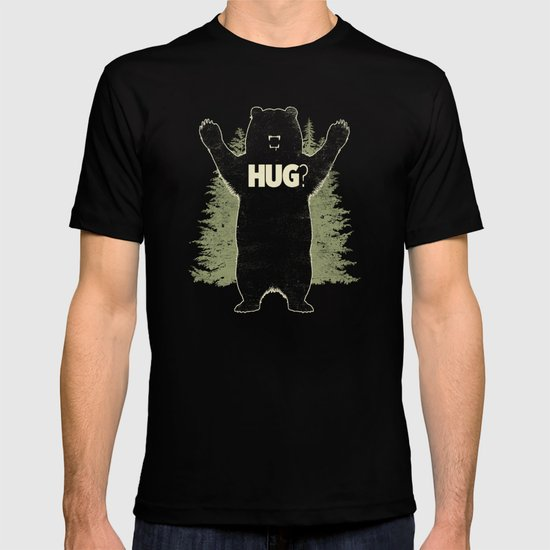 Bear Hug? (dark version) T-shirt