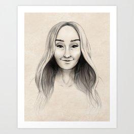 Portrait of Mom Art Print