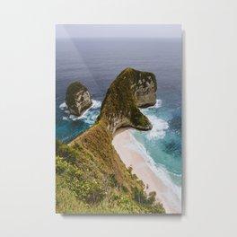Beached Cliffs Metal Print