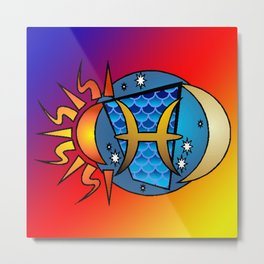 astrology,Pisces Metal Print