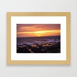 Yachats Oregon - Twilight Framed Art Print