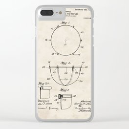 Tuning Device for Timpani Vintage Patent Hand Drawing Clear iPhone Case