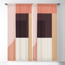 Abstraction_Colorblocks_001 Blackout Curtain