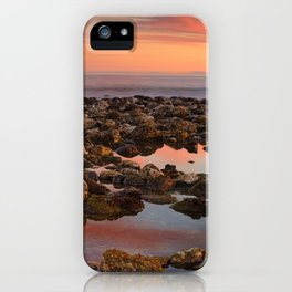 Red sunset at the Mediterranean sea iPhone Case