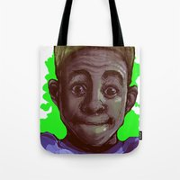 tyler the creator Tote Bags featuring Tyler The Creator II (Green) by ASHUR Collective™