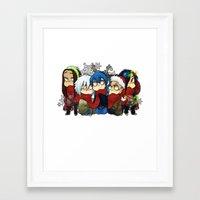 dmmd Framed Art Prints featuring Dmmd Christmas  by lilbutt
