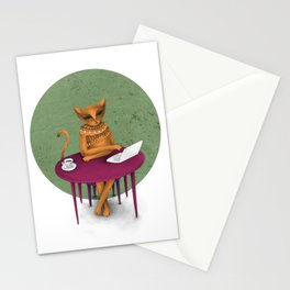 busy pretending Stationery Cards