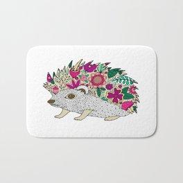 Woodland Hedgehog Illustration Bath Mat