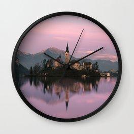 Bled, Slovenia Wall Clock