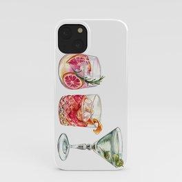 Watercolor Cocktails  iPhone Case