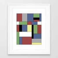 mondrian Framed Art Prints featuring Mondrian #5 by Ron Trickett (Rockett Graphics)
