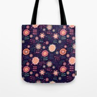 flora Tote Bags featuring Flora by Valendji