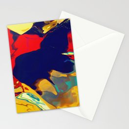 Vibrant shapes oozing out Stationery Cards