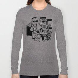 Marker Abstract Long Sleeve T-shirt