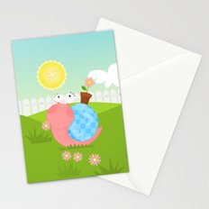 Pink Snail (female) Stationery Cards
