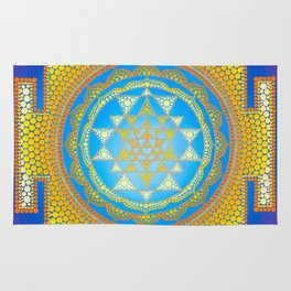 Sri Yantra painting on canvas Rug