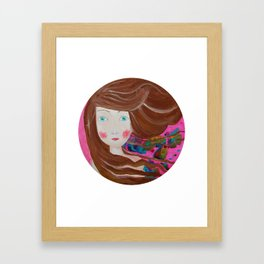 Inky Windy Framed Art Print