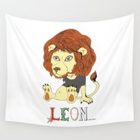 leon Wall Tapestries featuring Leon by eva vasari