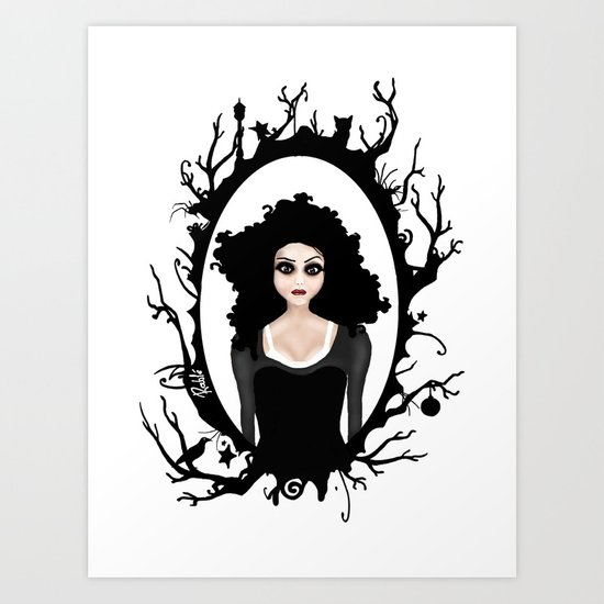 I keep my dark thoughts deep inside. Art Print