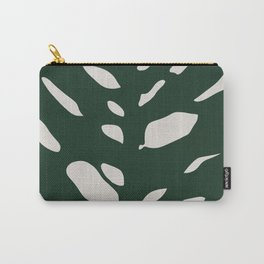 Monstera leaf abstract pattern Carry-All Pouch