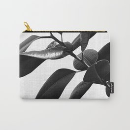 Ficus Elastica Black & White Vibes #1 #foliage #decor #art #society6 Carry-All Pouch