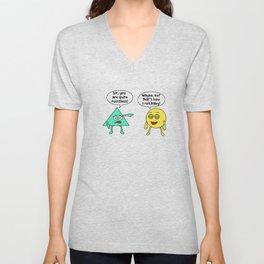 Funny Pointless T-Shirt Design Quite pointless Unisex V-Neck