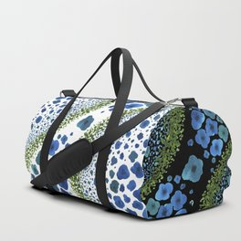 Paths of Color [Turquoise, Blue and Green] Duffle Bag
