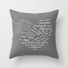 Quotes of the Heart - Clintasha (White) Throw Pillow