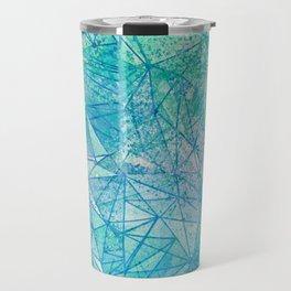 aquamarine space geometry Travel Mug