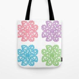 Multicolor Roses Flower Doodle Tote Bag