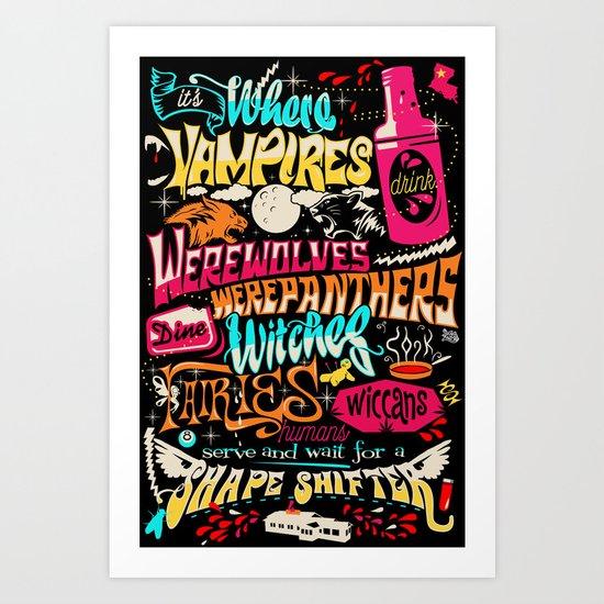 Merlotte's Place Art Print