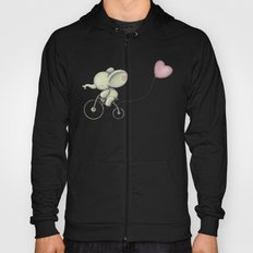 Cute Elephant riding his bike Hoody