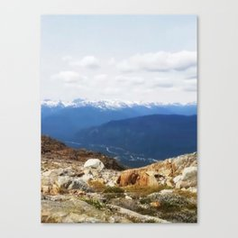 Many layers of a mountain view Canvas Print