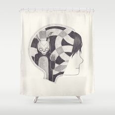 mad world Shower Curtain
