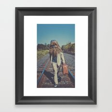 Corduroy and Leather Framed Art Print