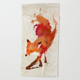Vulpes vulpes Beach Towel